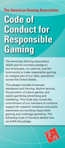 Code of Conduct for Responsible Gaming